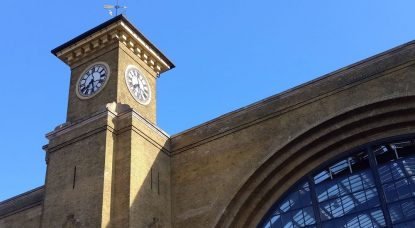 London, King's Cross, The Iconic Clock Tower At The Front Of Train Station, Built In 1852