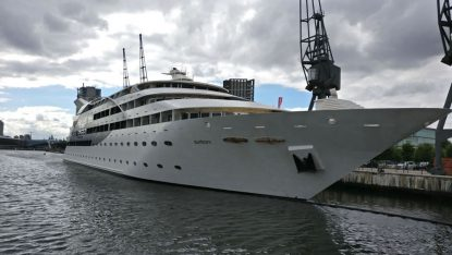 London. The Sunbourne Yacht Hotel, Permanently Docked